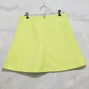 Mini Neon Green/Yellow Skirt